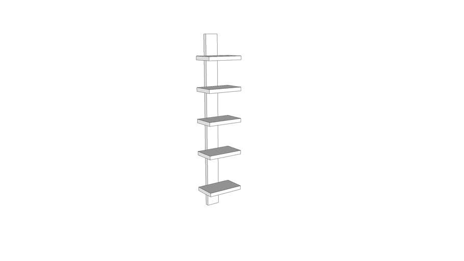 Mondeo Wall Shelf 5-Shelves_White