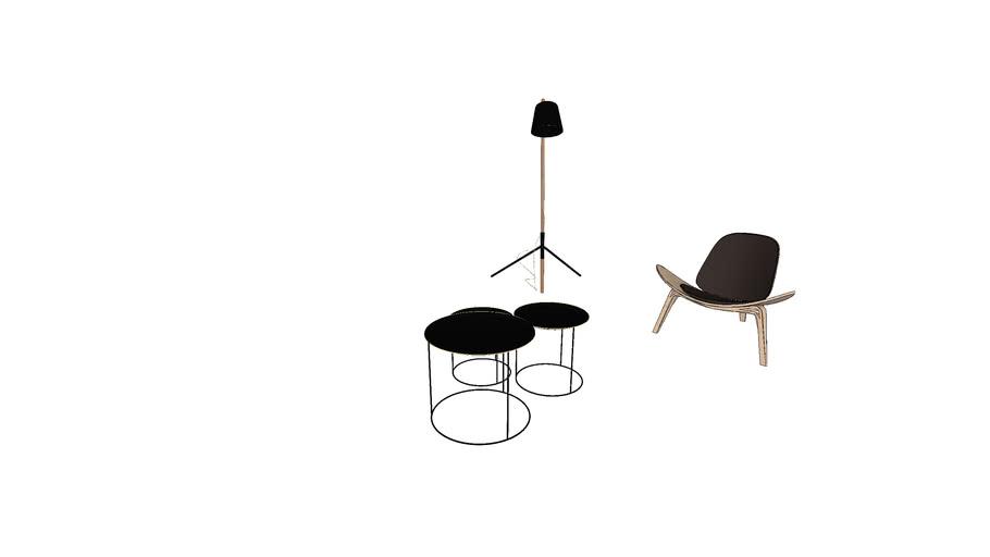 woodblack set (light.chair)