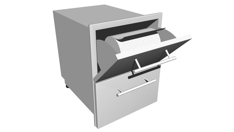 23 Inch Height Multi-Configurable Paper Towel Drawer Combo w/Self-Leveling Legs