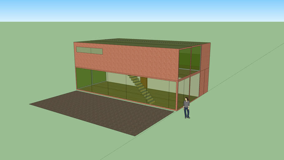 Shipping container house model 34