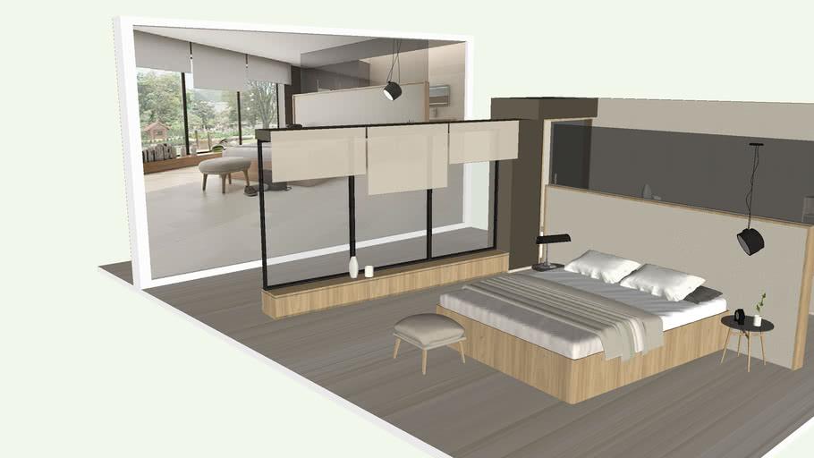 Modern Scandinavian Master Bedroom - Dormitorio Principal Moderno Escandinavo