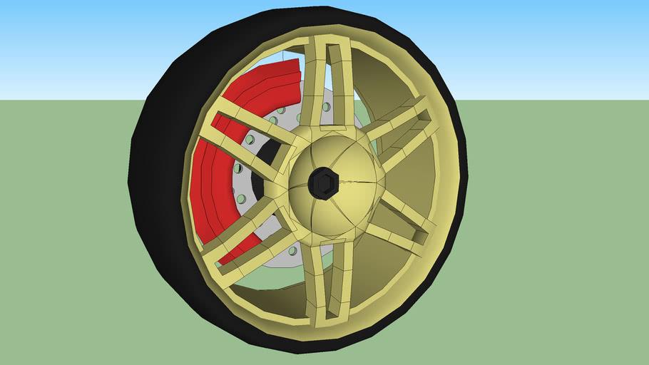 Golden Tuner Wheel