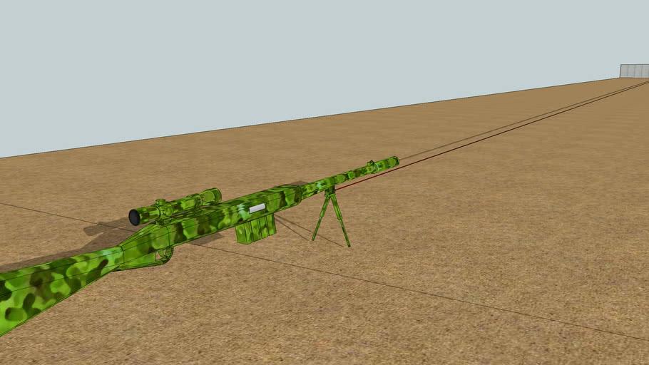sniper rifle long range (sights, laserpoint, bipod,.. )