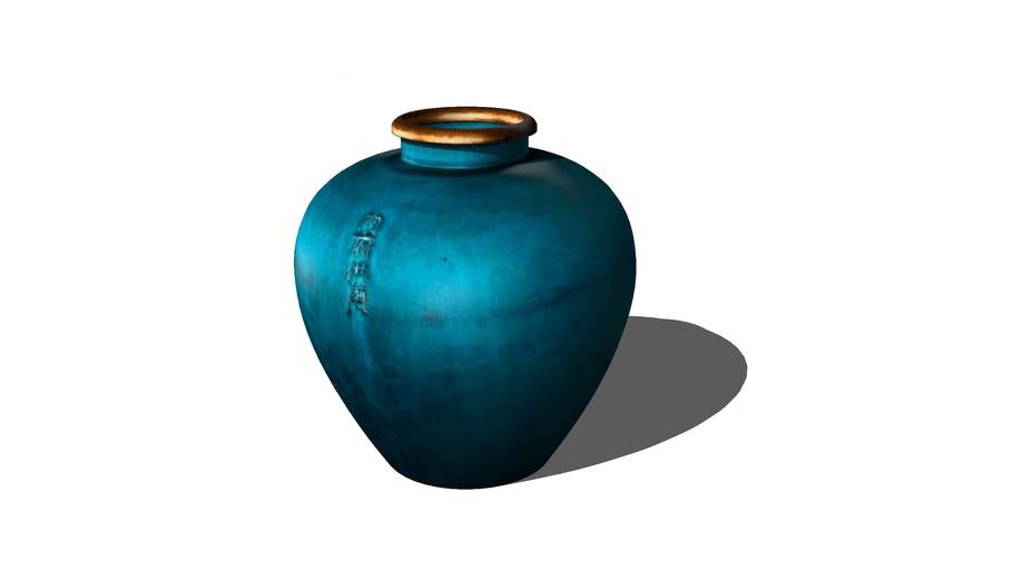 Blue_chopper vase