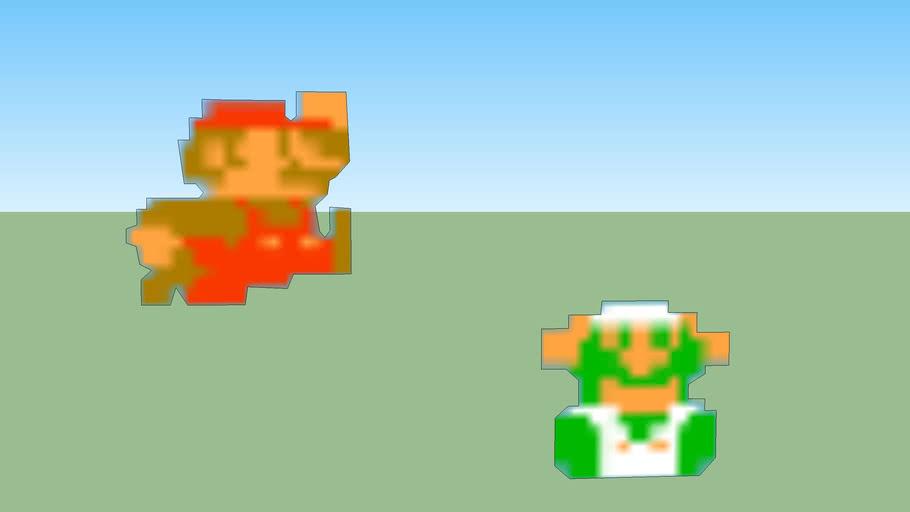Mario & Luigi NES pixel