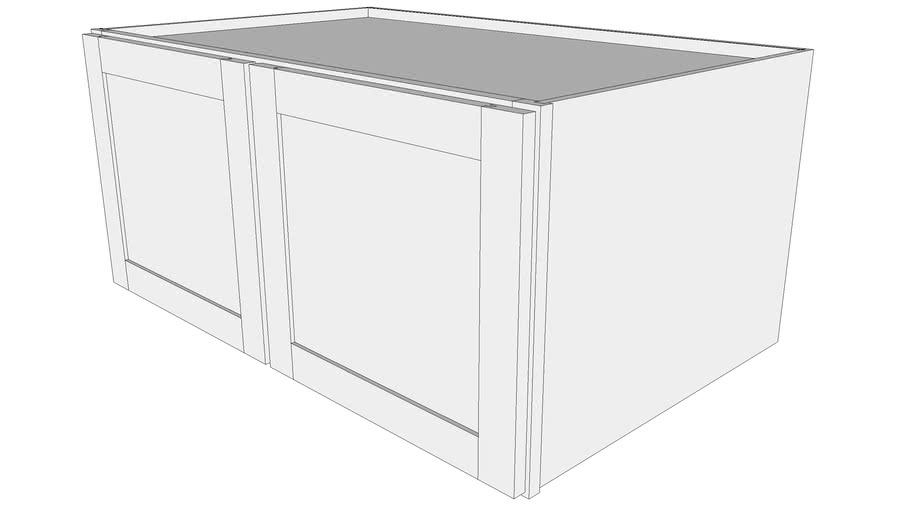 "Bayside Wall Cabinet W3918 - 24"" Deep, Two Doors"