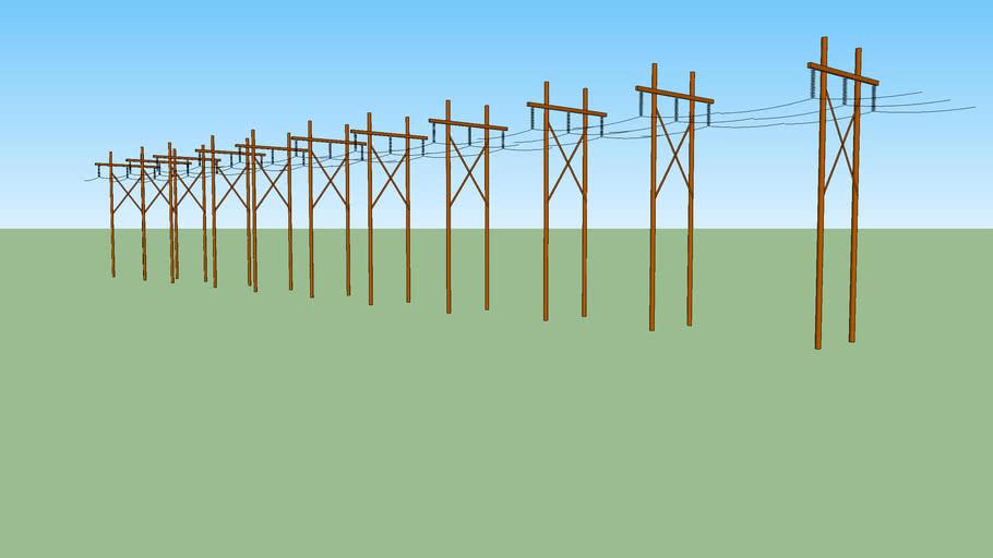 Power Lines H Frame
