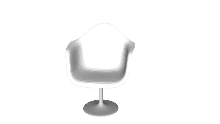 78413 Chair with Armrest Forum Trumpet White ( Stuhl mit Armlehne Forum Trumpet White )