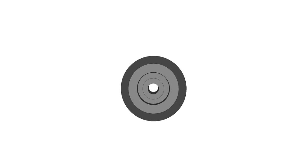 Caster Wheel 50mm x 18mm with 8mm Centerhole