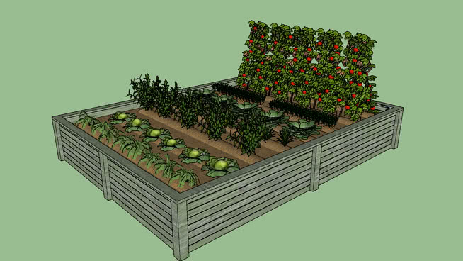 Huerto Ecologico Terraza 3d Warehouse