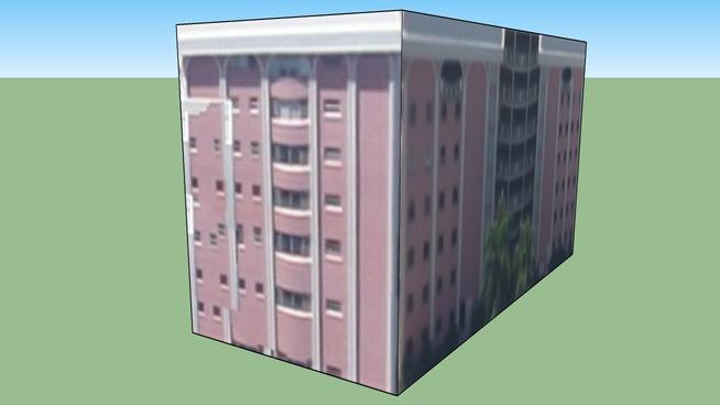 Pink Building in Sarasota, FL, USA