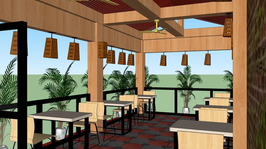Small Cafe Restaurant Ideas By Al Amin Munnaa 2ndschool 3d Warehouse