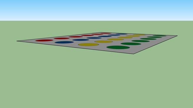 Twister, 4-kleurig, 24 ronde vlakken, diameter ronde vlakken=250