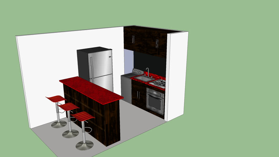 Small 2mt kitchen. Cocina pequeña 2mts