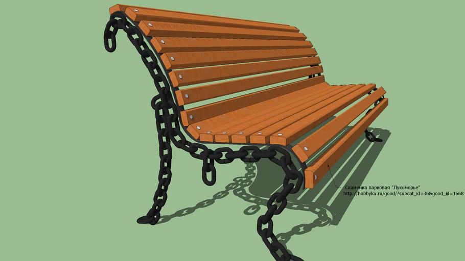 """Park bench """"Lukomorie"""" / Скамейка парковая """"Лукоморье"""""""