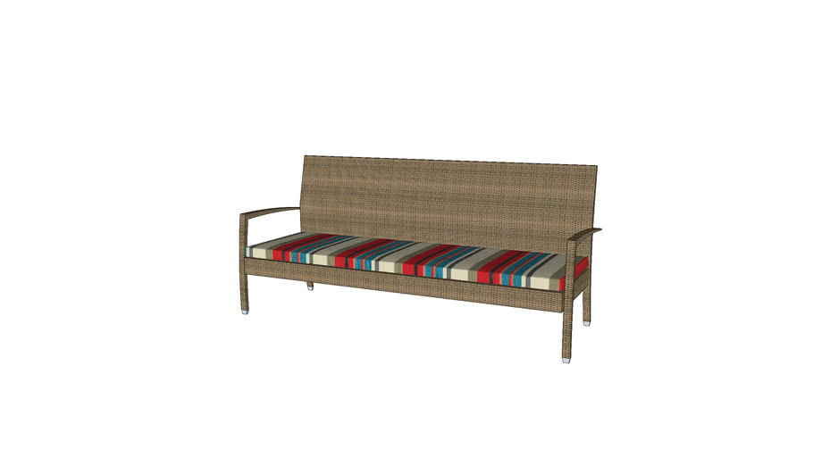 Asbury Cushioned Triple Seater