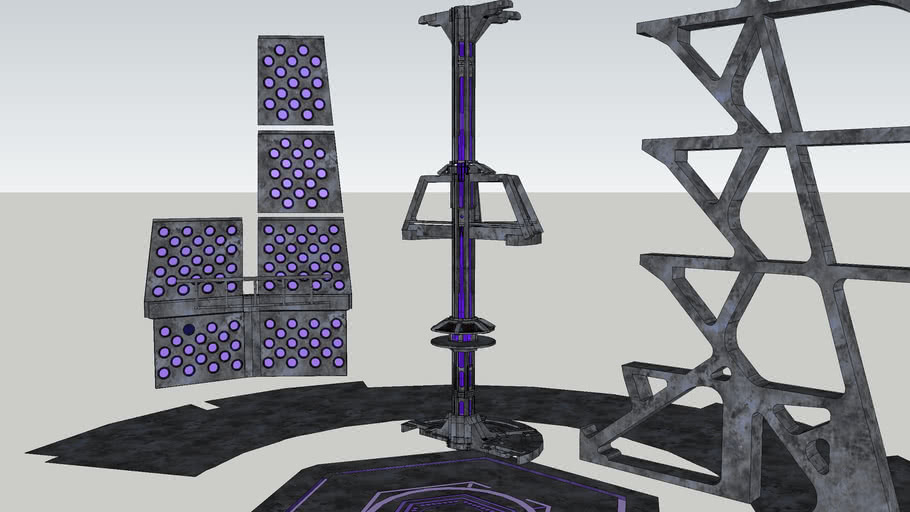 Build Your Own TARDIS Console Room Pack 3 - Purple Stone
