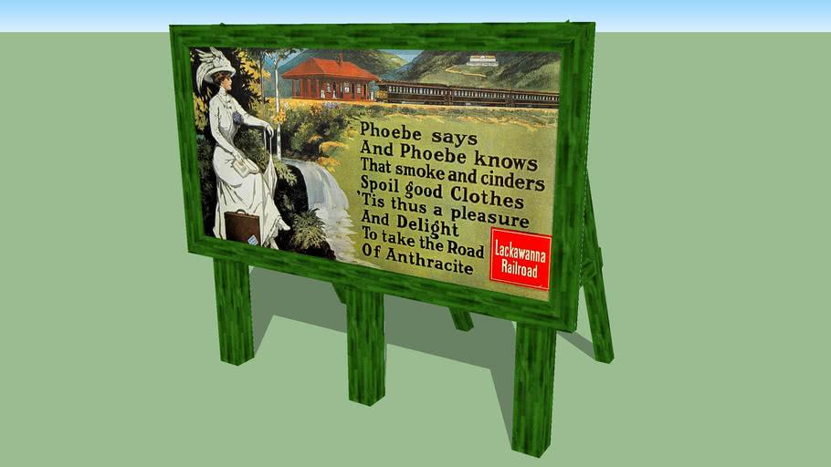 HO scale billboard