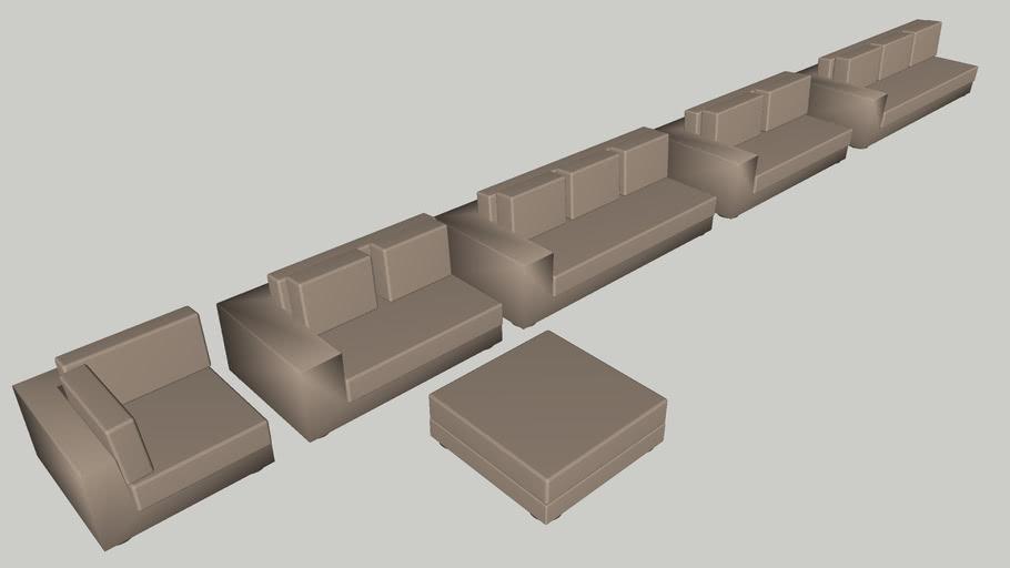 MDF Italia Idea One Modular Sofa