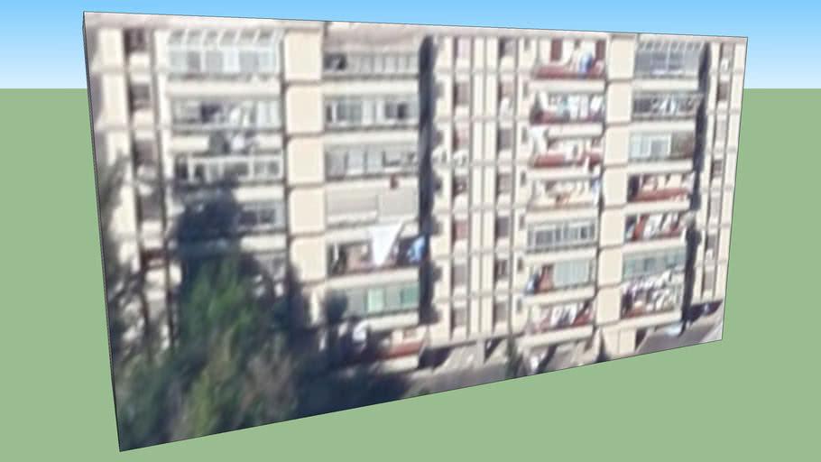 Building in Cagliari CA, Italia retro via fleming