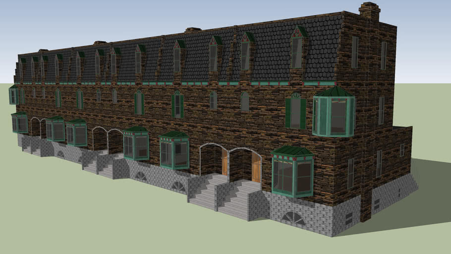 Brownstone rowhouses