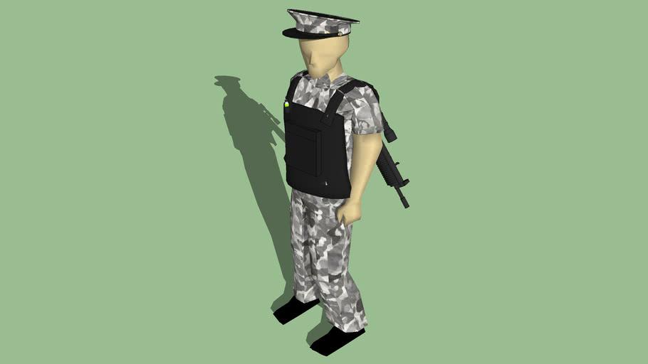 Policia de la INFANTERIA.Policía de mendoza.