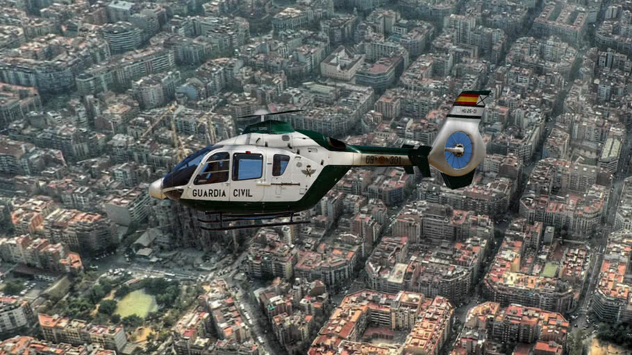Eurocopter EC-135 de la Guardia Civil