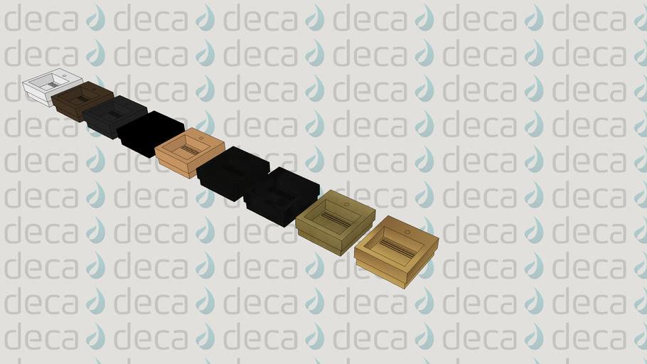 Deca Cuba de Sobrepor Retangular - Código L.1042C - Grelha e Válvula Oculta