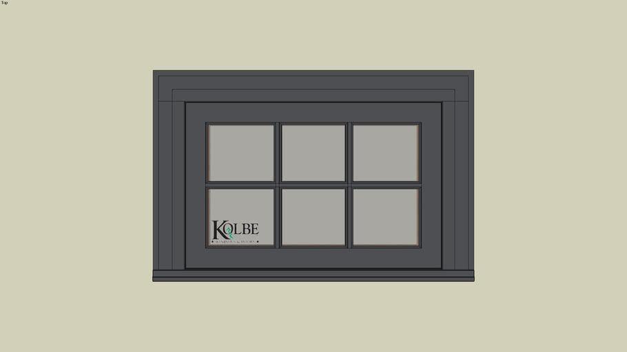 """Kolbe Ultra Casement KUX118S (F.S. 2'-6"""" x 1'-8"""" R.O. 2'-6 1/2"""" x 1'-8 1/2"""")"""