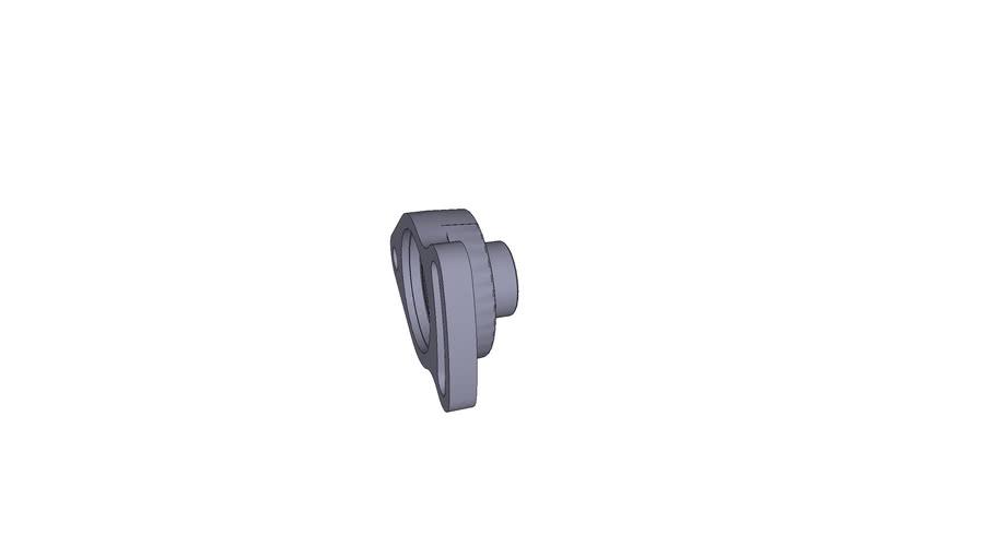 Oval-flanged bearing ESFA 203