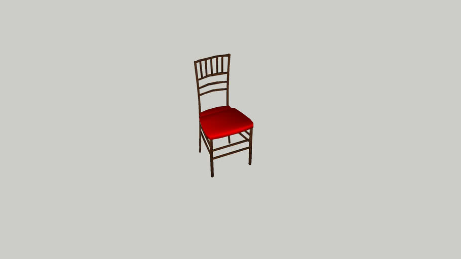 DINING_WOOD_RED CUSHION