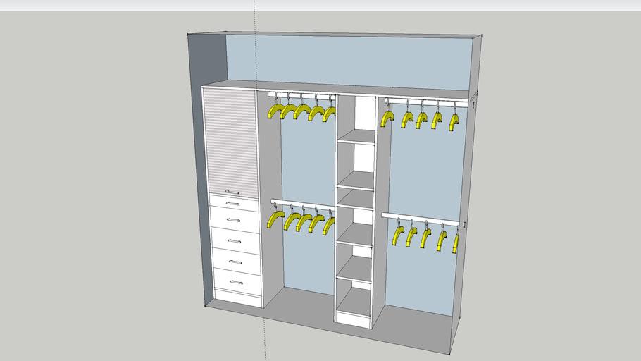 closet niño de 220 x 240 x 60 mm.