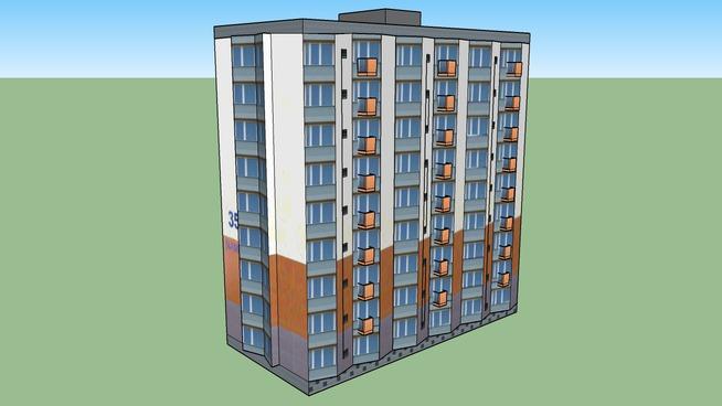 Budynek mieszkalny Ślaska 35 w Gdańsku - 3D