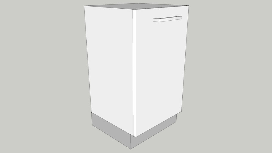 450 Base Module with One Shutter & One Adjustable Shelf 450X410X700 CID_CP10000009