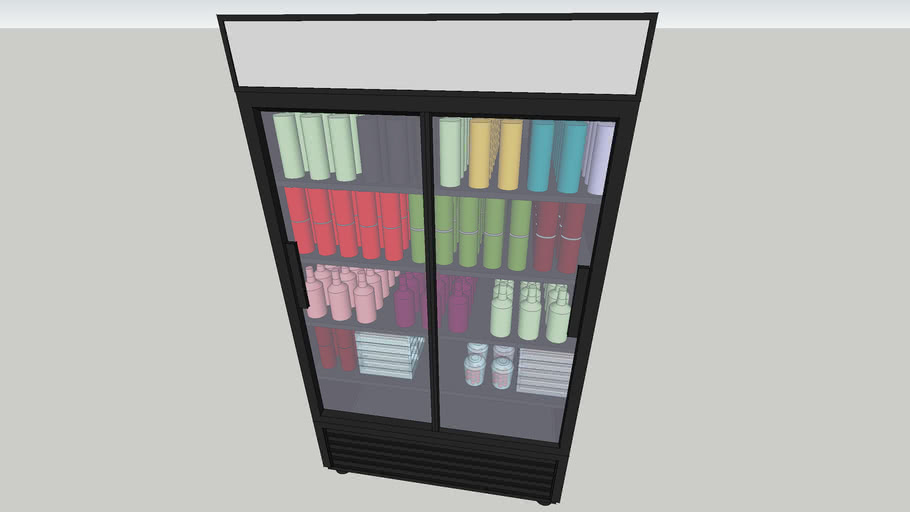 """GDM-37 by True - 44"""" Refrigerated Display with Double Glass Slide Doors"""