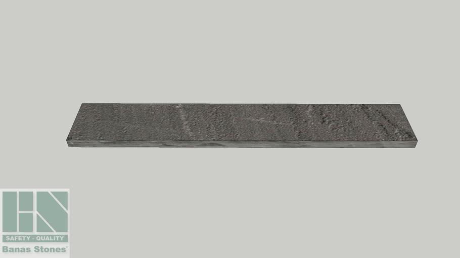 "Banas® Stones Premium Natural Wall Coping - 12"" x 72"" - Banas® Imperial Black RF4"