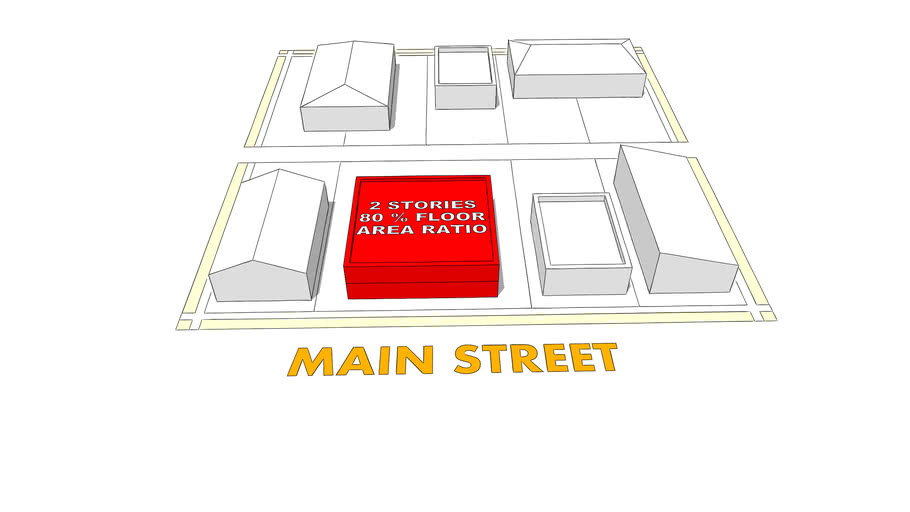 2 story 80% Floor Area Ratio | 3D Warehouse