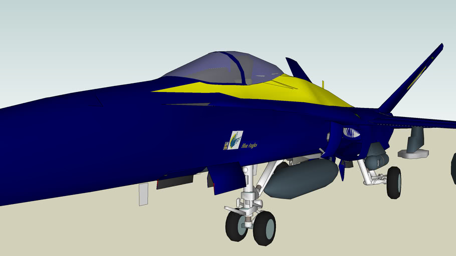 F/A-18C Blue Angels Paint
