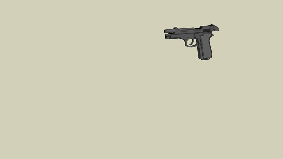 beretta m9 slide back (DOWNLOAD AND LOOK AT DETAIL)