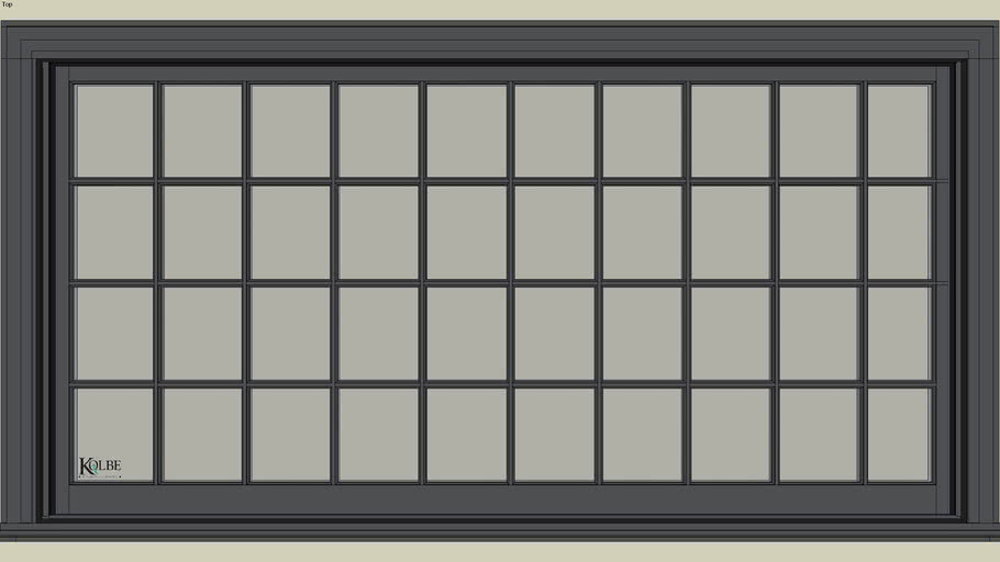 "Kolbe Ultra Sterling Double Hung Studio UDHS8442 (F.S. 8'-5 1/2"" x 4'-4 7/16"" R.O. 8'-6"" x 4'-5"")"