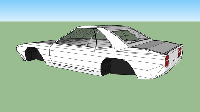 Blank Muscle Car