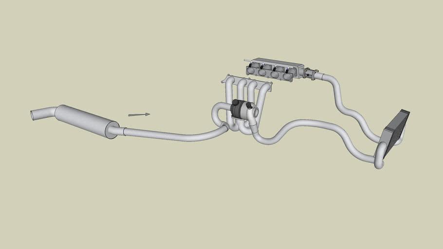 Caterham 7 exhaust + turbocharging system