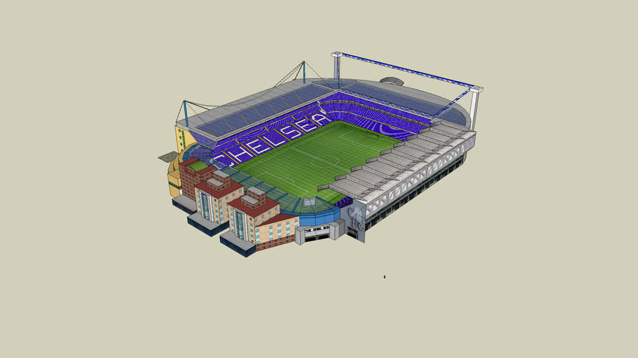 Stamford Bridge: New Matthew Harding Stand. West Stand new roof to match.