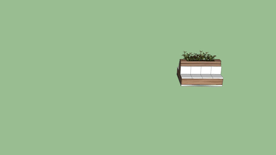 Double Bench with planter
