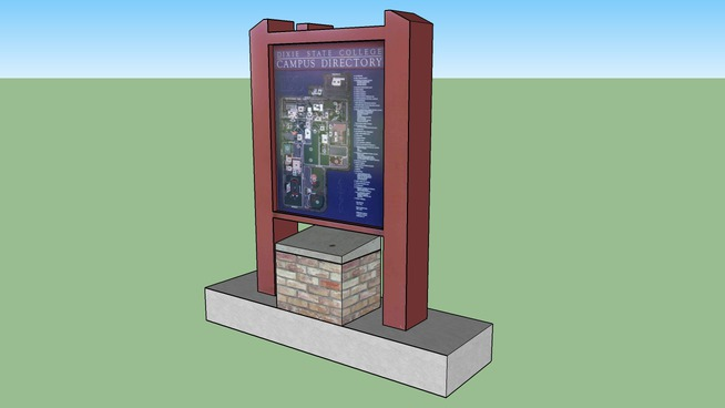 THE DIXIE STATE COLLEGE- CAMPUS DIRECTORY-MONUMENT SIGN