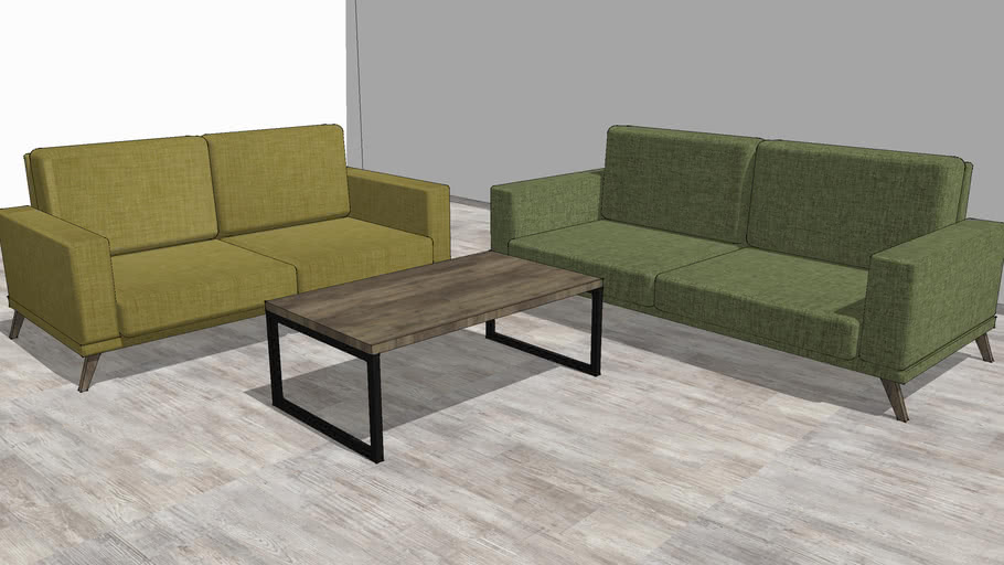 3 2 Seater Sofas And Coffee Table