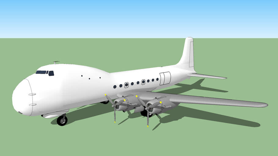 Template - Aviation Traders ATL-98 Carvair | 3D Warehouse