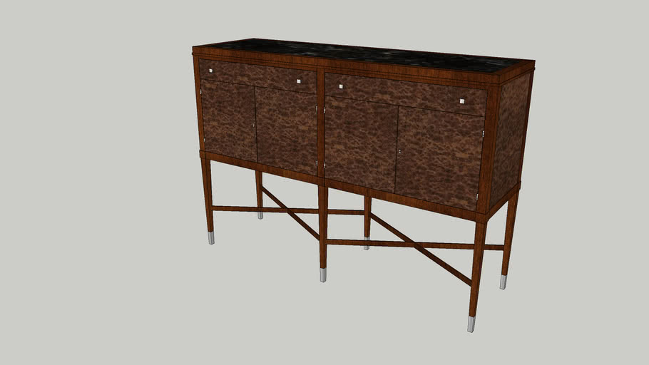 819-407M - Sideboard With Marble Insert Top
