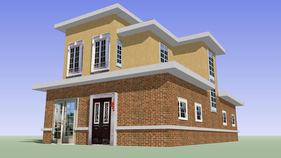 PLAN 0ACBSKP- Prairie Style American Home -2 story no garage