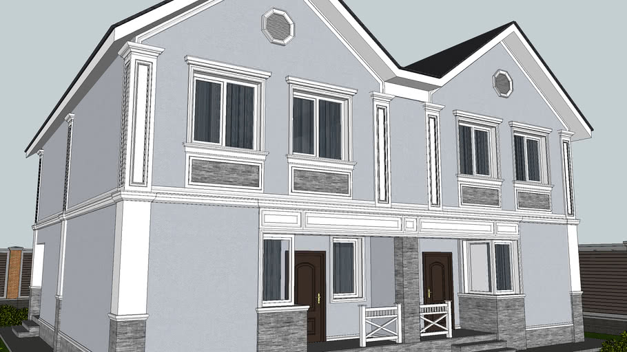 Corner pilasters: SketchUp Library of Architectural Decoration